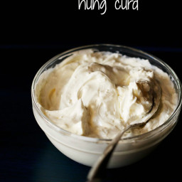 how to make hung curd or hung yogurt