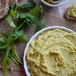 Hummus de jalapeño y cilantro