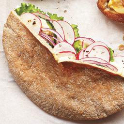 Hummus-Stuffed Pitas