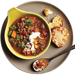 Indian-Spiced Lentils and Lamb