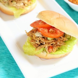 Indian Spiced Shredded Chicken Salad Sandwich recipe
