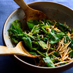 'Instant' Kimchi With Greens and Bean Sprouts