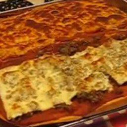 Italian Bread Pizza--sausage and Pepperoni