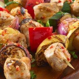 Italian Chicken & Vegetable Kabobs