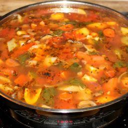 Italian-Inspired Vegetable Soup w/White Beans