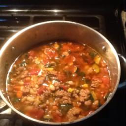 Italian sausage-cilantro soup