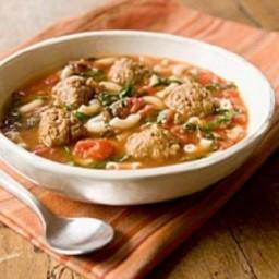 Italian Wedding Soup with Vegan Meatballs