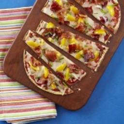 Jalapeno Bacon Tomato Flatbread