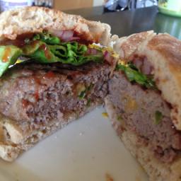 Jalapeno Cheddar Stuffed Burgers