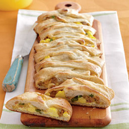Jalapeño, Sausage, Jack, and Egg Breakfast Braid