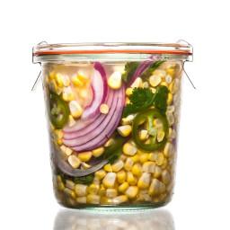 Jalapeño-Cilantro Pickled Corn