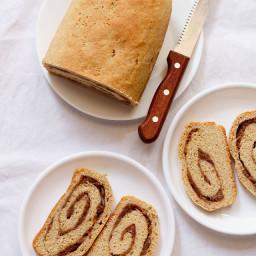 jam bread rolls - 1 large loaf