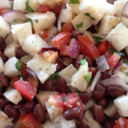 Jicama, Tomato and Black Bean Salad