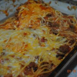 Jodie's light baked spaghetti