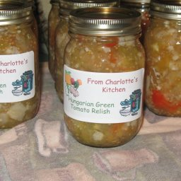 June Meyers Authentic Hungarian Green Tomato Relish