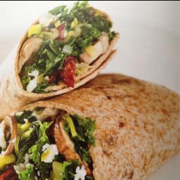 Kale and Mushroom Wrap