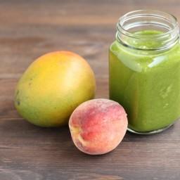 Kale Peach Mango Smoothie
