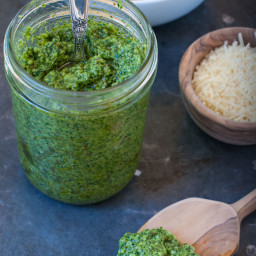 kale, spinach and basil pesto