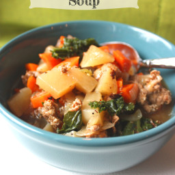 Kale, Turnip and Turkey Sausage Soup