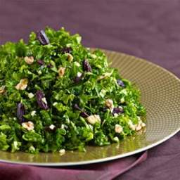 Kale Salad with Preserved Lemon and Walnuts