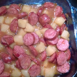 Kielbasa with Pineapple