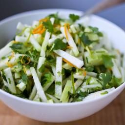 Kohlrabi Salad with Cilantro and Lime