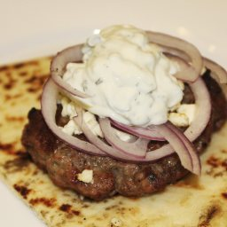 Lamb Burgers with Tzatziki and Feta