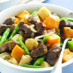 Lamb, pumpkin and parsnip hotpot