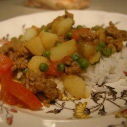 Lamb with Potatoes and Peas (Kheema)