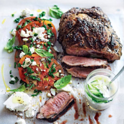 Lamb with tomato and feta
