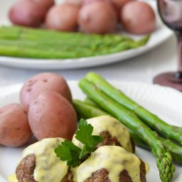 Lamb Meatballs with Egg  and  Lemon Sauce