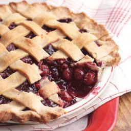Lattice-Topped Triple-Cherry Pie