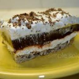 Layered Pudding Dessert  - Chocolate or Lemon