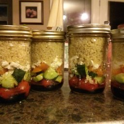 Layered Tabbouleh Salad in a Jar