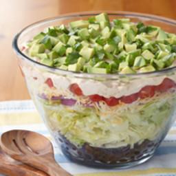 Layered Tex-Mex Taco Salad