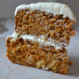 Layered Carrot Cake with Orange Cream Cheese Frosting