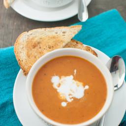 Lazy Mom's Creamy Tomato Basil Soup