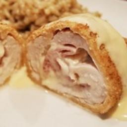 Chicken Cordon Bleu with Parmesan Dijon Sauce