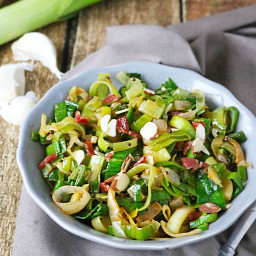 Leek and Bacon Sautéed Salad