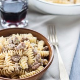 Leek and sausage pasta