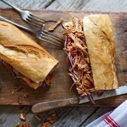 Leftover pulled pork and coleslaw sub recipe