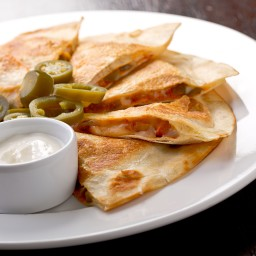Leftover turkey quesadillas