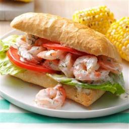 Lemon and Dill Shrimp Sandwiches Recipe