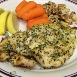 Lemon and Oregano-rubbed Grilled Chicken