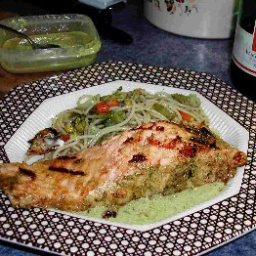 Lemon And Pesto Salmon