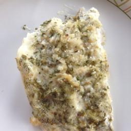 Lemon Baisil Aioli Flounder with Bread Crumbs