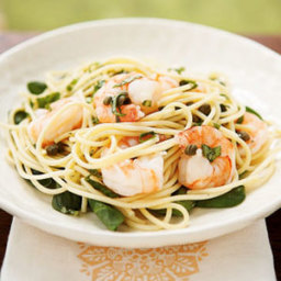 Lemon Basil Shrimp and Pasta