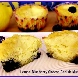 Lemon Blueberry Cheese Danish Muffins (LC)