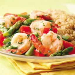 Lemon-Garlic Shrimp  and  Vegetables