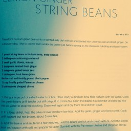 Lemon-Ginger String Beans